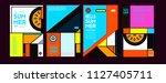 summer colorful poster design... | Shutterstock .eps vector #1127405711