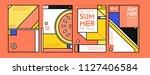 summer colorful poster design... | Shutterstock .eps vector #1127406584