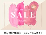 vector sale banner with text on ... | Shutterstock .eps vector #1127412554