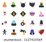 colored vector icon set   male... | Shutterstock .eps vector #1127415569