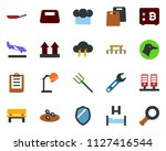 colored vector icon set   duck... | Shutterstock .eps vector #1127416544
