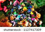 abstract psychedelic background ... | Shutterstock . vector #1127417309