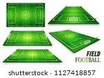 football field  soccer field...   Shutterstock .eps vector #1127418857