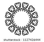 geometric round circle ornament ... | Shutterstock .eps vector #1127426444