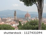 beautiful detail of florence in ... | Shutterstock . vector #1127431094