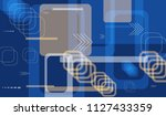 tech background. colorful... | Shutterstock .eps vector #1127433359