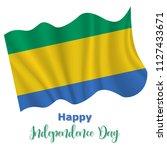 17 august  gabon independence... | Shutterstock .eps vector #1127433671