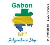 17 august  gabon independence... | Shutterstock .eps vector #1127434091