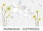 Stock photo  d illustration white background with ornament and flowers 1127442221