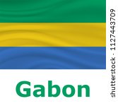 17 august  gabon independence... | Shutterstock .eps vector #1127443709
