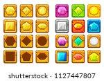 cartoon different shaped gems ...