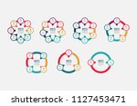 vector infographic template for ... | Shutterstock .eps vector #1127453471