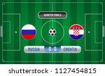 match of quarter finals.soccer... | Shutterstock .eps vector #1127454815