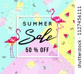 summer sale banner template...   Shutterstock .eps vector #1127456111