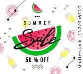 """""""summer sale"""" hand written...   Shutterstock .eps vector #1127456114"""