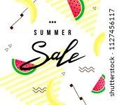 """""""summer sale"""" hand written...   Shutterstock .eps vector #1127456117"""
