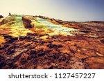 danakil depression in ethiopia  ... | Shutterstock . vector #1127457227