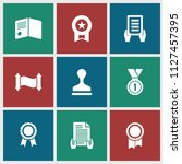 certificate icon. collection of ... | Shutterstock .eps vector #1127457395