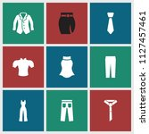 apparel icon. collection of 9... | Shutterstock .eps vector #1127457461