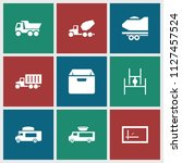 deliver icon. collection of 9... | Shutterstock .eps vector #1127457524