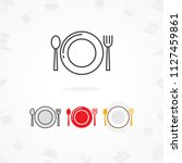table setting icon  vector... | Shutterstock .eps vector #1127459861