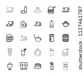 drink icon. collection of 25... | Shutterstock .eps vector #1127461787