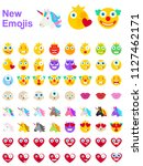 big set of new modern emojis ... | Shutterstock .eps vector #1127462171