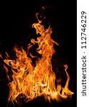 fire flames on black background | Shutterstock . vector #112746229