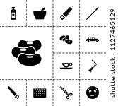 clipart icon. collection of 13... | Shutterstock .eps vector #1127465129