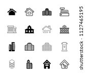 residential icon. collection of ... | Shutterstock .eps vector #1127465195