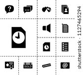 message icon. collection of 13... | Shutterstock .eps vector #1127465294