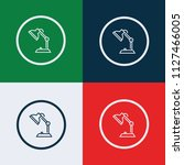 desk lamp icon vector | Shutterstock .eps vector #1127466005