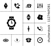 dial icon. collection of 13... | Shutterstock .eps vector #1127469281