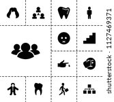 human icon. collection of 13... | Shutterstock .eps vector #1127469371