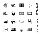 deliver icon. collection of 16... | Shutterstock .eps vector #1127469407