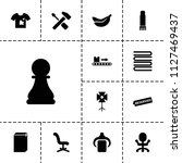 nobody icon. collection of 13... | Shutterstock .eps vector #1127469437