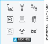 cord icon. collection of 9 cord ... | Shutterstock .eps vector #1127477384