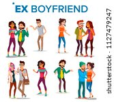 ex boyfriend  girlfriend vector.... | Shutterstock .eps vector #1127479247
