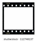 blank film strip frame... | Shutterstock . vector #112748137
