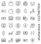 thin line vector icon set  ...   Shutterstock .eps vector #1127487524