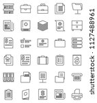 thin line vector icon set  ... | Shutterstock .eps vector #1127488961