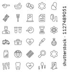 thin line vector icon set  ... | Shutterstock .eps vector #1127489051