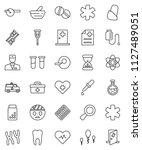 thin line vector icon set  ... | Shutterstock .eps vector #1127489051