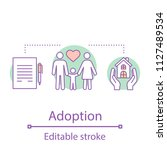 adoption concept icon.... | Shutterstock .eps vector #1127489534