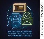 account creating neon light...   Shutterstock .eps vector #1127489561