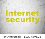 privacy concept  yellow... | Shutterstock . vector #1127489621