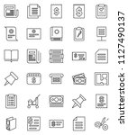 thin line vector icon set  ... | Shutterstock .eps vector #1127490137