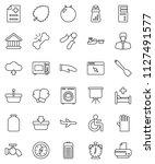 thin line vector icon set  ... | Shutterstock .eps vector #1127491577
