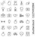 thin line vector icon set  ... | Shutterstock .eps vector #1127493584