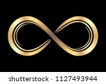 cold infinity symbol on a black ... | Shutterstock .eps vector #1127493944